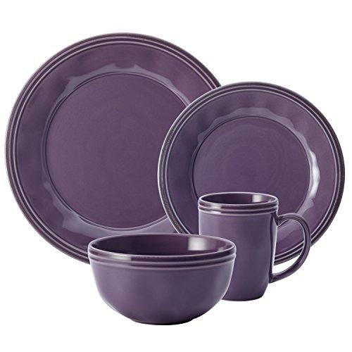 Service de Vaisselle en Céramique 16 Pièces Rachael Ray en Mauve - 4