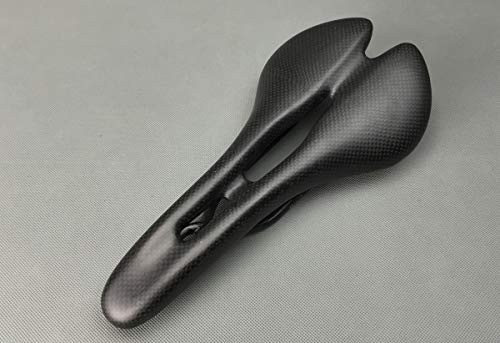 Bicycle Seat,Comfortable Bicycle Saddle Seat Cushion Full Carbon Fiber Breathable Super Lightweight with Hollow structure and Ergonomic Shap,Best Bike Saddle for Road Bike and Mountain Bike (Matt)
