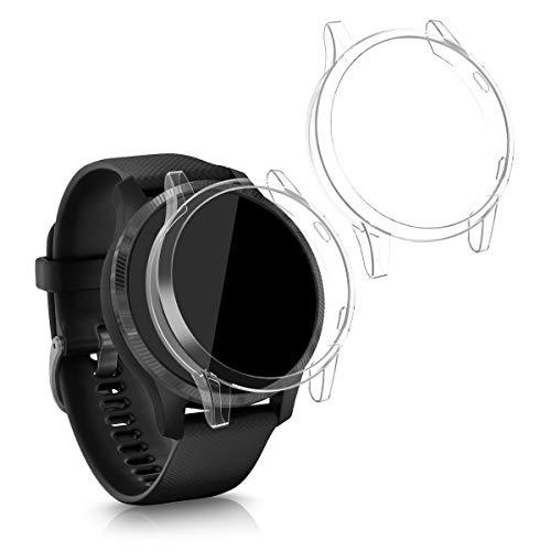 kwmobile 2 Pack de Fundas Compatible con Fitness Tracker Garmin Venu - Case en Transparente