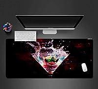 zdvhm estesa gaming mouse pad cocktail frutta vino grande tastiera tappetino mouse gioco mousepad for office home e impermeabile sporco antiscivolo pc desktop table mouse pad (size : 900 * 400 * 3mm)