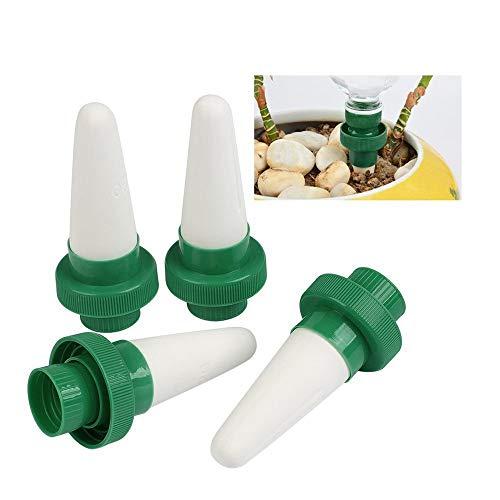 Cratone Automatische Bewässerung Pflanzen Bewässerung Keramik Bewässerungssystem Zimmerpflanzen Wasserspender Kegel Tropf für Garten Zimmerpflanze Blumen 4er Set