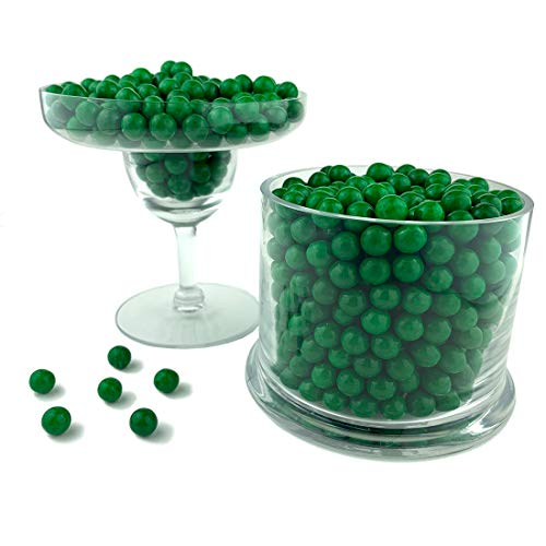 Color It Candy Dark Green Sixlets 2 Lb Bag - Perfect For Table Centerpieces, Weddings, Birthdays, Candy Buffets, & Party Favors.