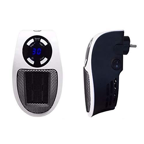 HKD Portátil Mini Calefactor cerámico, Termostato Ajustable Enchufable Calefactor Eléctrico for Cuarto...