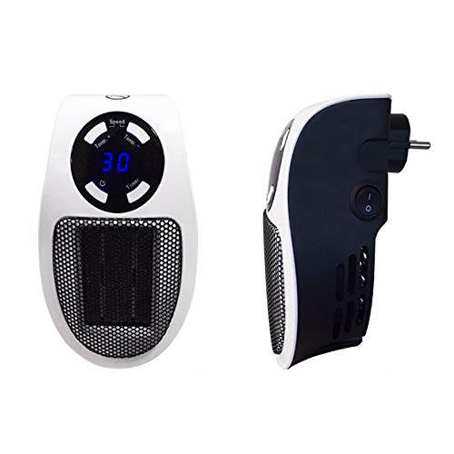 HKD Portátil Mini Calefactor cerámico, Termostato Ajustable Enchufable Calefactor Eléctrico for Cuarto de baño,...