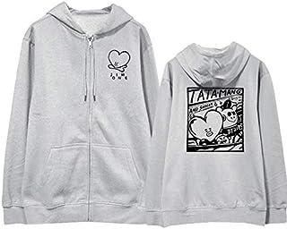 BTS Bulletproof youth league Jim's style Zip Up Hoodies Sweatshirts Women Men Casual Jacket Zipper Coat Long Sleeve Cartoo...