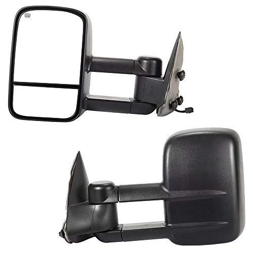 Why Choose YY HEAITH Pair Power Heated Towing Mirrors For 99-02 Silverado Sierra Pickup w/ 15cm Wire