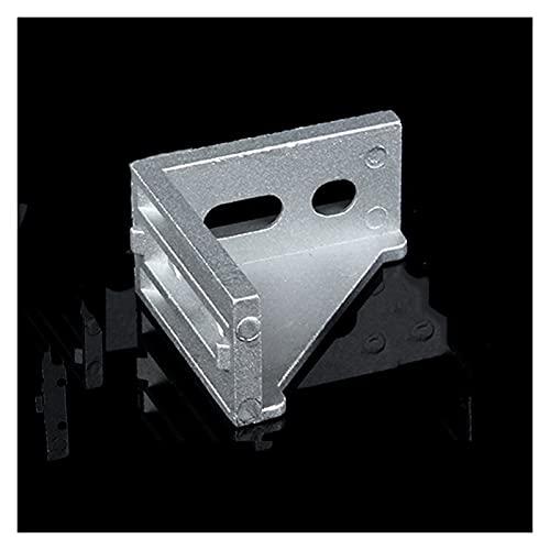 zlw-shop 50 Pezzi di Slot a 6 Angoli a Forma di L attacket Connettore Connettore di Fissaggio Raccordi in Alluminio Staffe angolari, Argento, 20 * 20 * 17mm