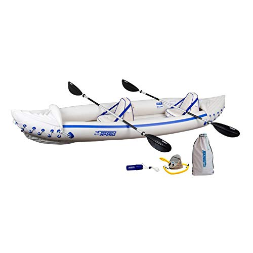 Sea Eagle 370 Pro 3 Person Inflatable Portable Sport Kayak...