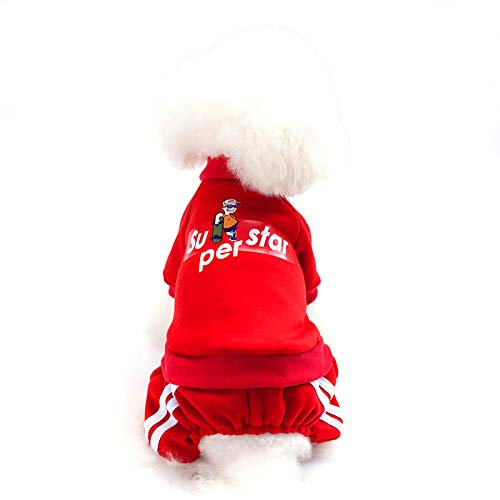 Superstar Dog Sweatshirt Cotton Hoodies for Small Dog Soft and Warm...