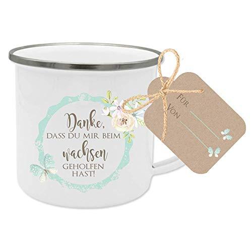 Geschenk für Erzieherin und Tagesmutter - Dankeschön Tasse mit Geschenkanhänger und Spruch