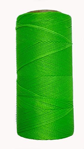 LINHASITA Garnspule, gewachst, 100 g / 360 Meter, Dicke: 0,5 mm, Polyester, Makramee-Garn, 30 Farben - Neongrün
