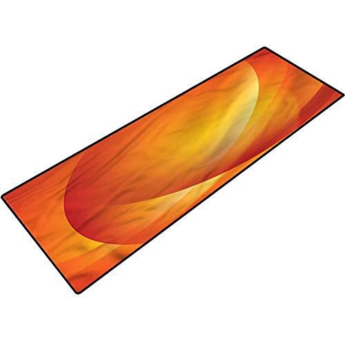Orange Entryway Rug Colorful Twist Lines Bathroom mats Bath Rugs Doormats Carpet 17x24 Inch