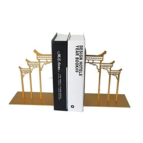 Zhongsufei-HM Titolare del Libro Bookends Decorativi in Metallo Book Ends Supporti for Ripiani 1 Paio per Ufficio Scolastico libreria (Colore, Dimensione : 15x9x20cm)