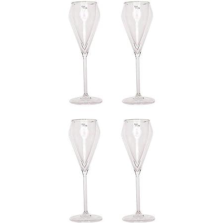 GMMH Cosy Trendy Lot de 4flûtes à Champagne Champagne Double Paroi en Verre Thermique Verres Verres