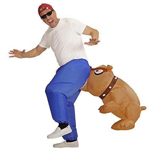Widmann 11011387 Kostüm Bissiger Hund, Unisex– Erwachsene, Blau/Braun