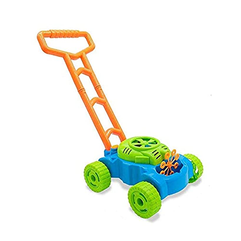Motoworx Electronic Bubble Lawn Mower Outdoor Toddler Toy | Outside Bubble Blower Walker Push Toys for Kids | Includes Bubble Blower Machine, 2 Bubble Bottles | Great Summer Toy for Children
