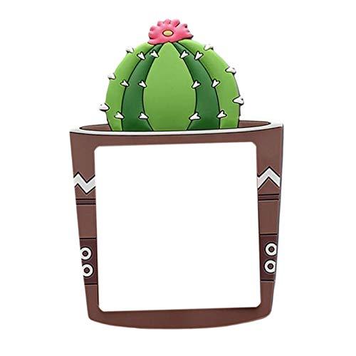 MagiDeal Etiqueta engomada extraíble del Interruptor, Etiqueta engomada de la Pared de la Planta de la Historieta, Pegatinas Decorativas de la decoración del - Bola de Cactus