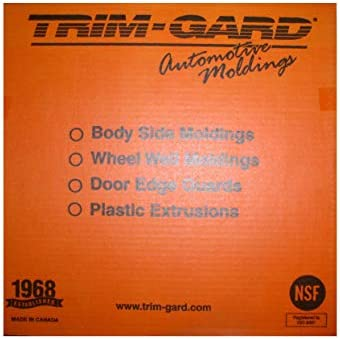 "All Black 1/"" x 16/'  Universal SMOOTH Trim-Gard Stick On Body Side Molding"