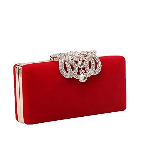 Elegante Clutch Bag für Frauen Strass Clutches Geldbörse Abend Box Clutch Abendtasche für Prom Hochzeit Cocktail Party