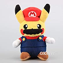 PampasSK Stuffed & Plush Animals - Super Mario Pikachu Plush Toy Cute Pikachu Cosplay Mario Stuffed Soft Dolls 9