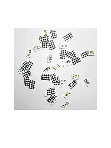 1 baraja de 40 cartas en miniatura de 10 x 7 mm napolitanas para pastores del Belén San G. Armeno. Recibirás un llavero de regalo GTT ART050.