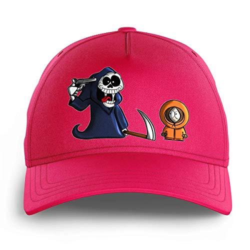OKIWOKI South Park Lustiges Rosa Kinder Kappe - Kenny und der Tod (South Park Parodie signiert Hochwertiges Kappe - Einheitsgröße - Ref : 594)