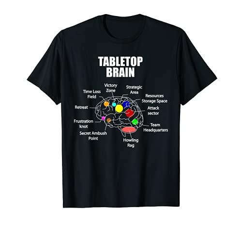 Tabletop Brain Brettspiel Kartenspiel Rollenspiel Tabletop T-Shirt