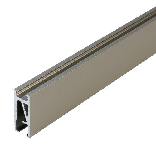 Aluprofil, Stilstange, Gardinenstange Cubis | L 200 cm | Nickel-matt