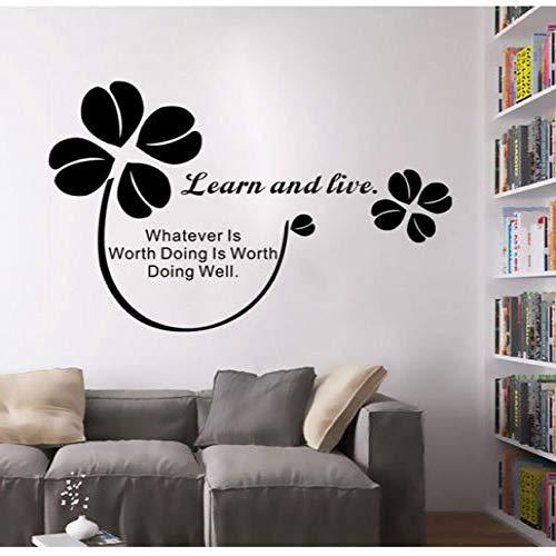 Wandaufkleber Wohnkultur Wohnzimmer Lernen Live Wall Quotes Inspirational Sprichwort Kunstwand Wandtattoos Home Office Decor42 * 66 cm