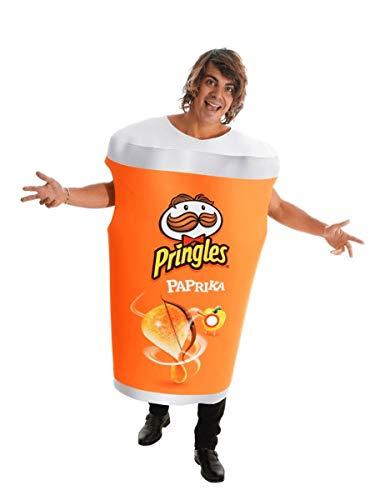 Karabu Disfraz Tubo Papas Fritas Pringles pimentn Talla nica Hombre Mujer