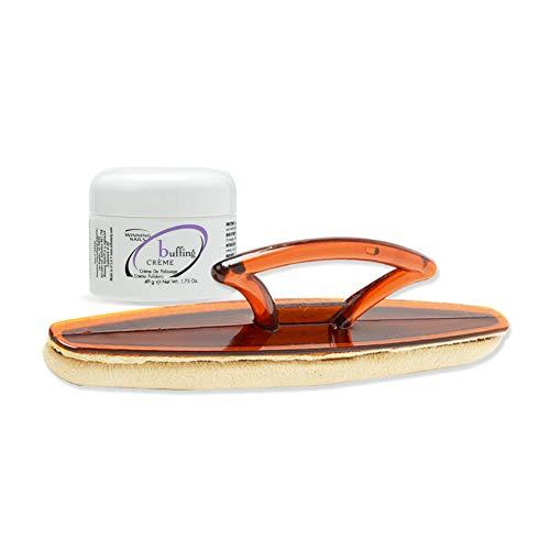 Winning Nails Chamois Buffer & Buffing Cream, 1.75 Oz. Set