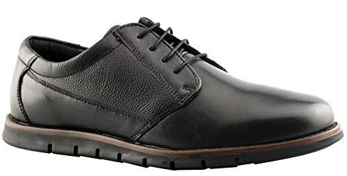 Dr Keller - Zapatos de Vestir de Cuero Hombre, Color Negro, Talla 44 EU