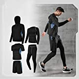 Hbao 5 PC/Set Männer Anzug Gym Fitness Compression Sport Anzug Kleidung Laufen Jogging Sport Wear-Übungs-Trainings-Strumpfhosen (Color : B, Size : XXX-Large)