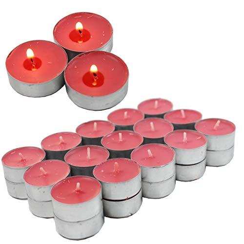 Smart Planet® Kerzen Ambiente Lot de 30 bougies chauffe-plat parfumées parfum fruité avec coque en aluminium Durée de combustion 4 heures