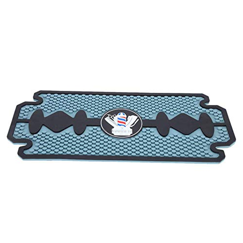 WANGXN Barber Work Station Mat Clippers Mats Flexible PVC Heavy Duty Antiskid Bar Service Mat Cushion, Resistant Resistant Pad Tools for Styling Hair Dryers Hair Trimmers