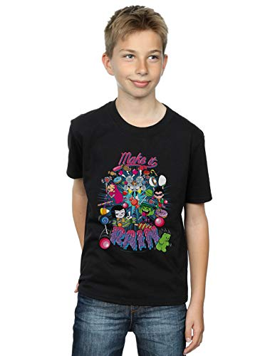 DC Comics Niños Teen Titans Go Make It Rain Camiseta Negro 9-11...