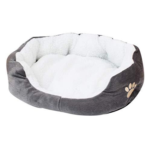 Yowablo Matte Decke kleines Haustier Hund Katzenbett Welpenkissen Haus Haustier weicher Warmer Zwinger Hund (60X50cm,2Grau)