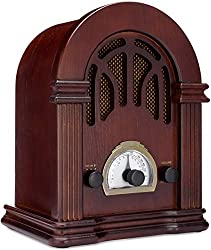 Image: ClearClick Retro AM/FM Radio with Bluetooth | Classic Wooden Vintage Retro Style Speaker