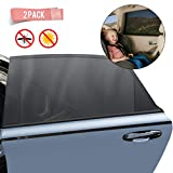 Car Sun Window Shade - Car Window Bug Screen-Window Sunshades Breathable Mesh Baby Car Rear, Protect Kids from Sun Glare and UV Rays-Rear Side Car Shade Fits Most Cars (2 Pack)
