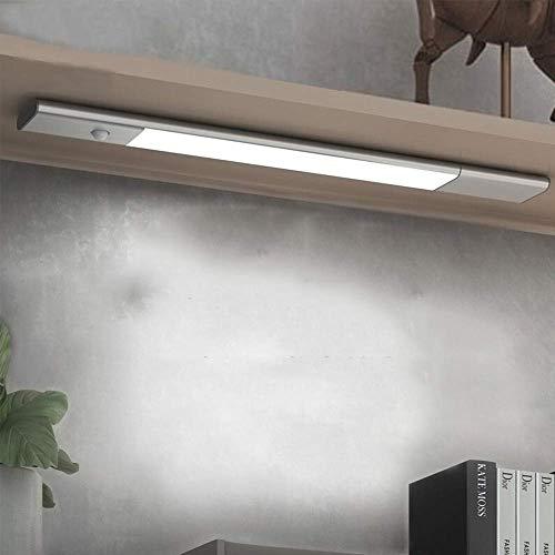 ZHUYUE zeer goede badkamerspiegel licht USB oplaadbare spiegellichten draadloze magnetische nachtlicht strepen zilver voor badkamer kaptafel make-up studie (kleur: zilver, maat: S-wit)