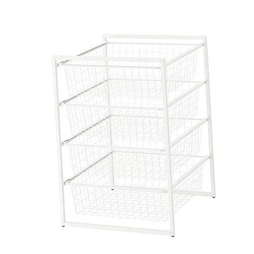 JCNFA Planken 4-laags metalen frame mand metalen frame, Boekenkast/keuken kruiden rek/opslag rek, Opslag ladekast, Badkamerrek