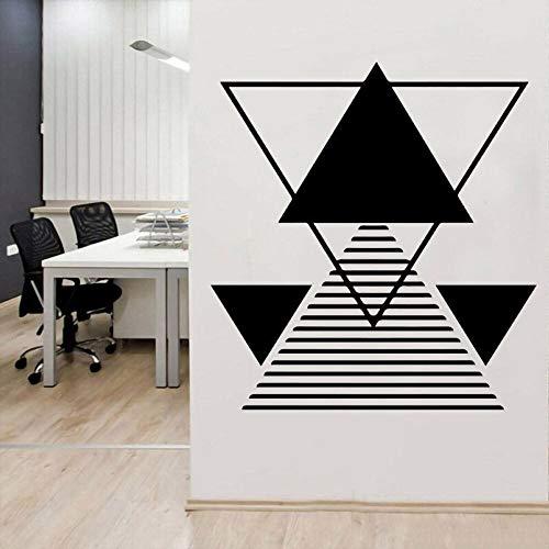AGjDF Neue Dreieck Wandbild geometrische Form Wandtattoo geometrische Aufkleber Familie Wohnzimmer und Hotel Dekoration57x62cm