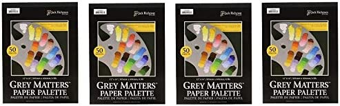 50 Sheets Pack of 2 12 by 16-Inch Jack Richeson Grey Matters Paper Palette