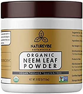 Sponsored Ad - Naturevibe Botanicals USDA Organic Neem Leaf Powder 8 Ounces - Azadirachta Indica - 100% Pure & Natural | S...