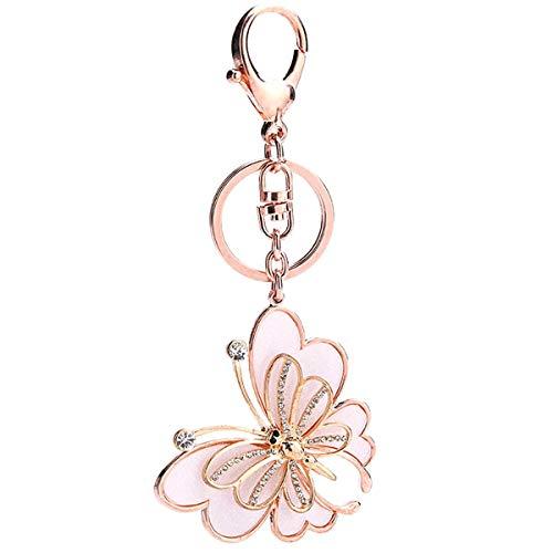 Ukerdo Plüsch Ball Schmetterling Schlüsselanhänger Handtasche Anhänger Schlüsselanhänger Valentine Geschenk zum Damen
