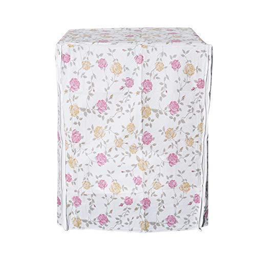 LIOOBO Waschmaschine Abdeckung Rosa Mustern Wasserdicht Staubdicht Deckel für Waschmaschine Frontlader Trockner 56x60x82cm