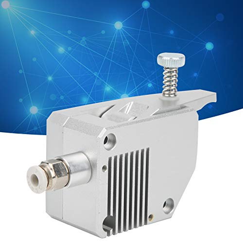 Dual Drive Extruder, 1.75mm Dual Extruder Full Metal Practical Silver for 3D Printer(Left Hand)