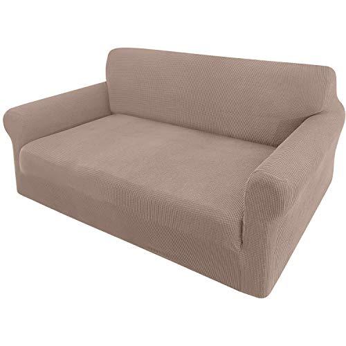 Granbest Sofabezug, dehnbar, Jacquard, 1 Stück, 3-Sitzer mit Armlehnen, Bezug für Sofa (2-Sitzer, Sand)