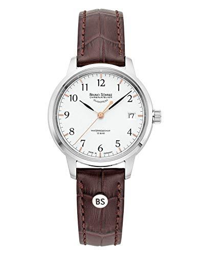 Bruno Söhnle Herren Analog Quarz Uhr mit Echtes Leder Armband 17-13202-221