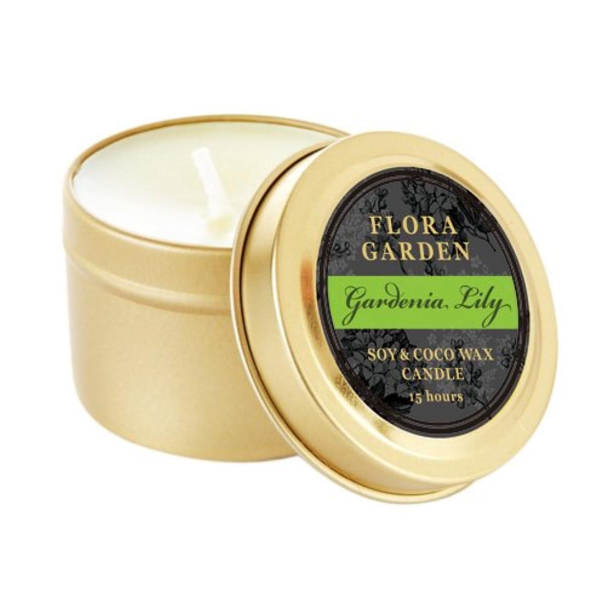減少実質的に艦隊FLORA GARDEN フローラガーデン トラベル缶キャンドル ガーデニアリリー Gardenia Lily Travel Can Candle